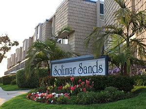 The gardens in front of Solimar Sands