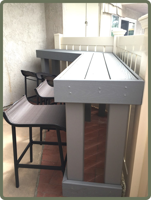 Patio Dining Counter