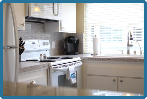 Prepare meals in this newly remodeled and fully equipped chef's kitchen